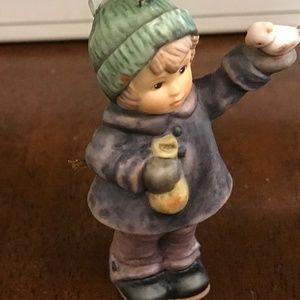 Hummel figurine little girl with duck vintage